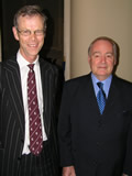 Christopher Martin-Jenkins (left) and David Frith, photo by Ian Jackson